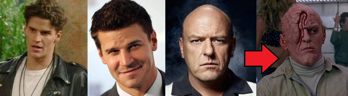 Married with Children: David Boreanaz and Dean Norris from Breaking Bad
